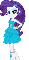 Equestria Girls: Rarity's Fall Formal Dress Vector by ponyvio