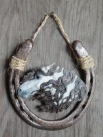 Gray horse head wall hanging by Ethereal-Beings