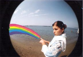 Fisheye Rainbow by fungopolly