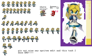 maria hedgehog sprites by LexxArt