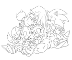 wasting time with friends lineart by SMSSkullLeader