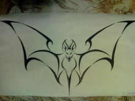 Tribal bat of sorts by o0Psy0o