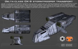 Delta-class DX9 stormtrooper transport ortho [New] by unusualsuspex