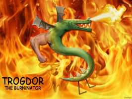 THE BURNiNATOR by dinoneill by strongbadia