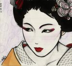 pretty geisha by saezuruko