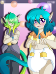 OC: Tristis and Rory by AD-SD-ChibiGirl