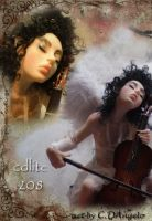 Heavenly Cellist D by cdlitestudio