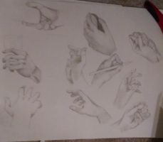 College Dump: Hand study by ThrowingShadows