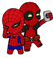 Little Spidey-Pool by josh308