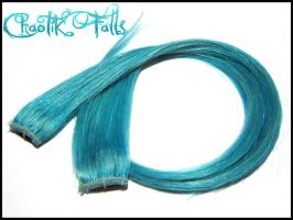 Lagoon Blue Clip In Hair Extensions by ChaotikFalls