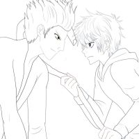Pitch Dark and Jack Frost lineart by AngelofHapiness