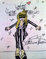 Lady Gaga Striped Outfit by SailorMoon190