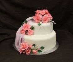 80th Two Tier Draped Cake by The-Ice-Flower