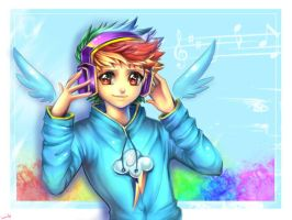 Human Rainbow Dash by kankitsuru