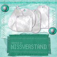 Paper tags with glitters by Missverstand