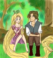 Tangled fan art by x-Charis-x