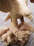 Eagle with salmon4 by woodcarve