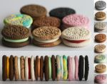 Polymer Clay Mini Oreos by creativesculpey