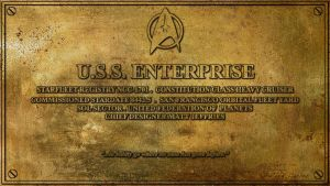 USS Enterprise Dedication Plaque by Dave-Daring