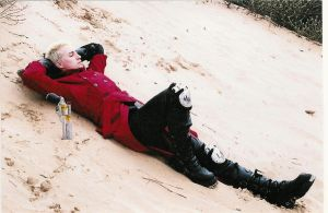 Vash cosplay relaxing by plushieman