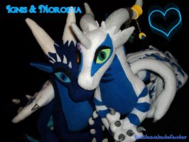 Ignis and Morosna Plushies by DragonCid