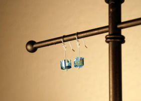 Tesseract Earrings - Solid Sterling Silver by kittykat01