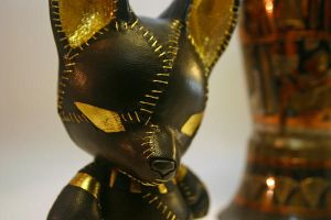 Anubis mini munny - close up by mesmithy