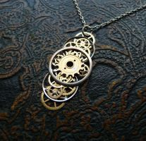 "Gear Pendant ""Cosmos"" by AMechanicalMind"