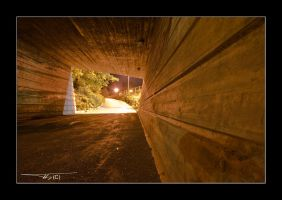 Tunnel at night... by OrisTheDog