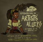 Steamcon IV Artists' Alley by shoomlah