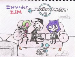 Invader Zim Mariokart by kyohattress34654