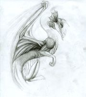 Unfinished Dragon by ChayaA