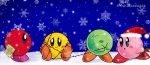 Christmas Kirbies by Yoshi66666666