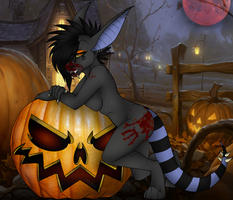 YCH: Pumpkin Pinup by TheHuntingWolf