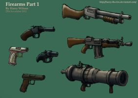 Steampunk Guns Part 1 by Harry-the-Fox