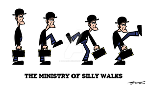 The Ministry Of Silly Walks by Cool-Hand-Mike
