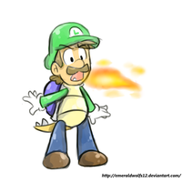Fire breathing Koopa Luigi by MariobrosYaoiFan12