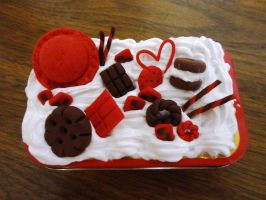Red and Choco deco can by KittyChow