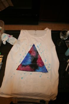Hipster Triangle Galaxy Shirt - Spencer by hipstergalaxyswag