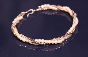 Pearl and Silver Bracelet by Alicat59