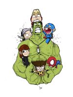 HULK and Friends by adhytcadelic