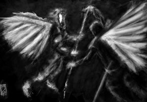 Struggle of fallen angels by maszeq