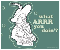 Hector Barbossa 'arrs' YOU. by Ginny-Star