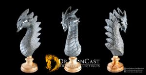 Rock Dragon bust final sculpt by drakoncast