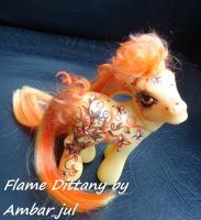 My little pony custom butterfly Flame Dittany by AmbarJulieta