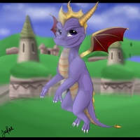 Spyro the Dragon by xxMoonwish