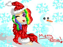 Merry X'mas from Rainbow Dash by Rosey1200
