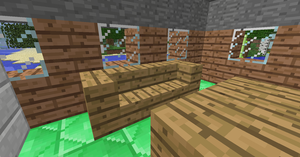 Minecraft couch by toamac