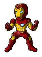 Chibi Modular Iron Man by GuyverC