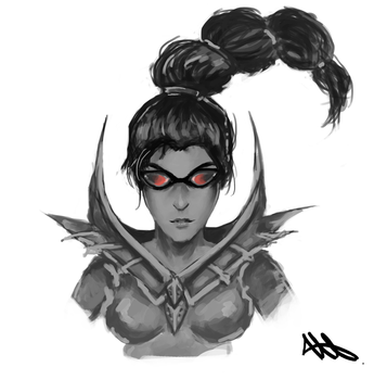 Vayne Face - League of Legends by Wroppi